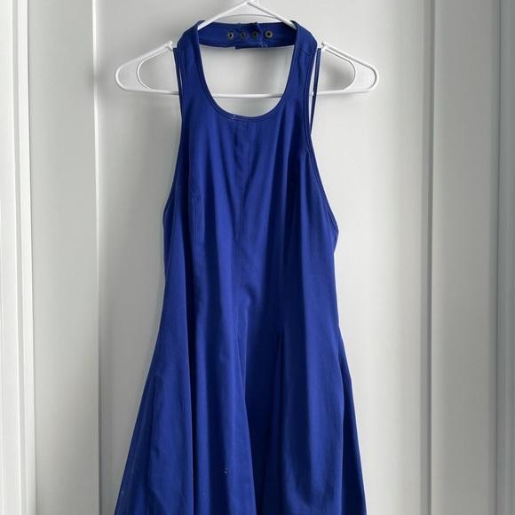 Jessica Simpson Halter Top Blue Dress